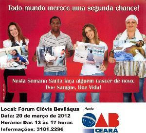 OAB Ceará participa de Campanha de Doação de Sangue do HEMOCE