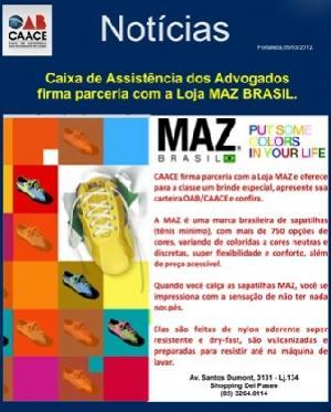 CAACE firma novas parcerias em beneficio da classe, agora com a Loja MAZ DO BRASIL e DSP Segurança