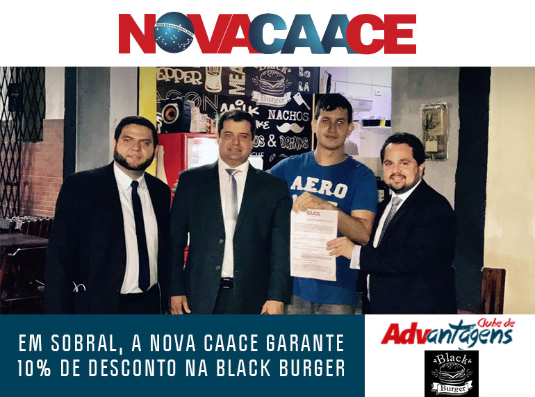 Nova CAACE na Subsecção de Sobral acaba de firmar parceria com a Black Burger