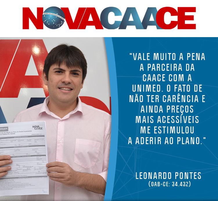 Advogado Leonardo Pontes contrata o Plano de Saúde da Unimed