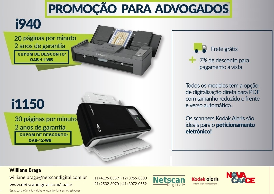 Excelentes descontos com a Netscan Digital