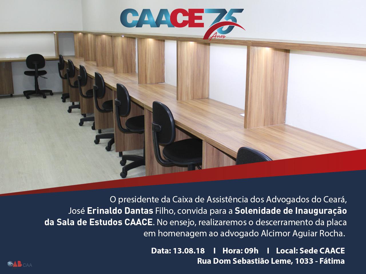 Convite Solenidade de Inauguração da Sala de Estudos CAACE