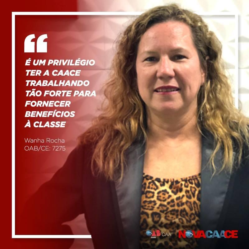 """""""É um privilégio ter a CAACE trabalhando tão forte para fornecer benefícios à Classe"""" – Advogada Wanha Rocha"""