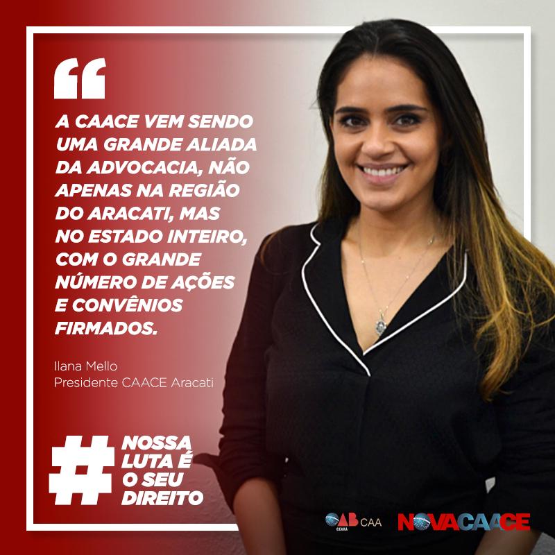Confira depoimento da presidente da CAACE em Aracati, Ilana Mello