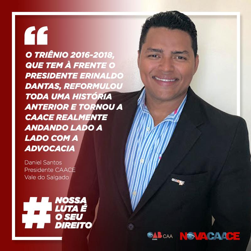 Confira depoimento do Presidente da CAACE no Vale do Salgado, Daniel Santos