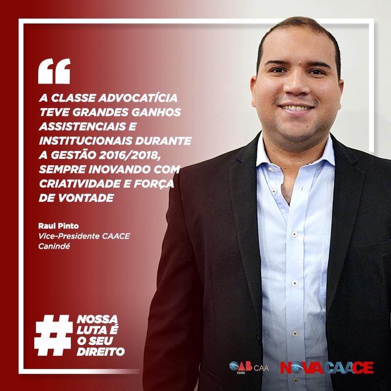 Depoimento do Vice-Presidente da CAACE em Canindé, Raul Pinto