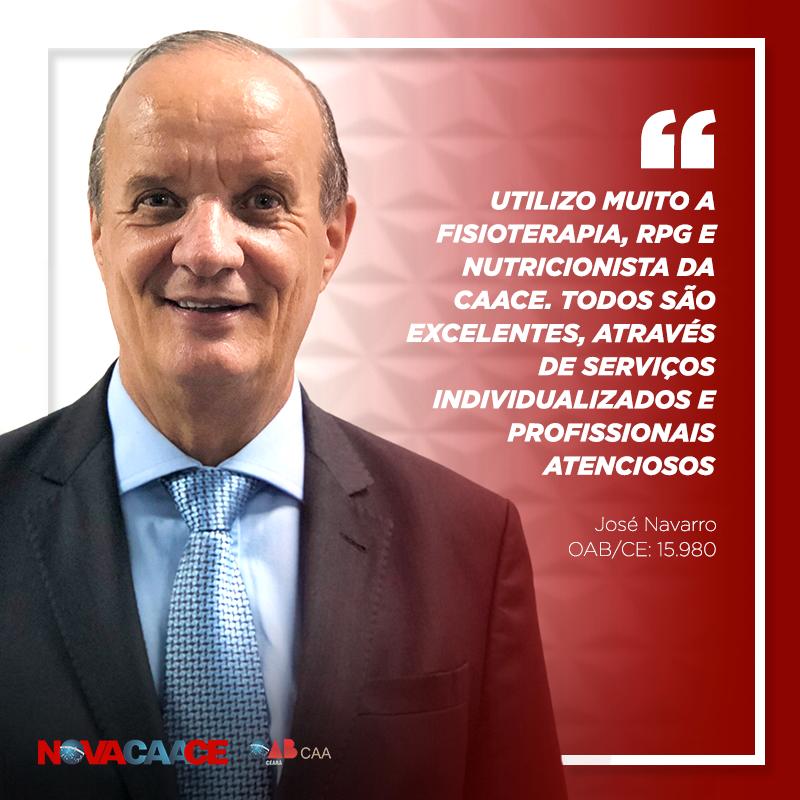 Depoimento do advogado José Navarro, sobre os benefícios ofertados pela CAACE