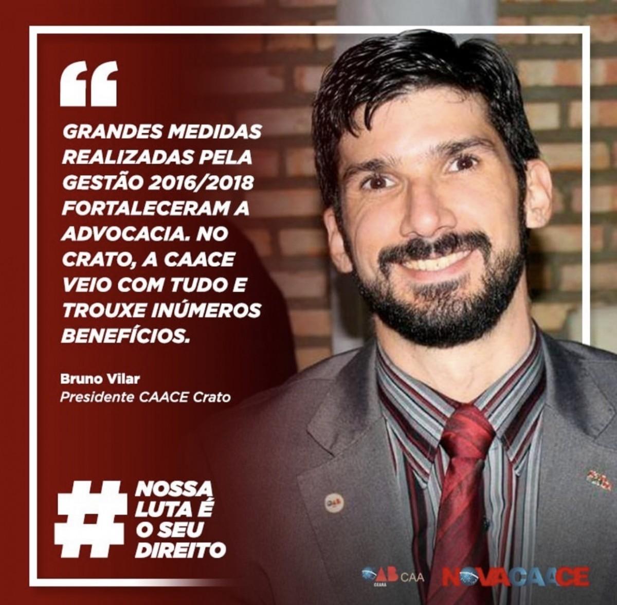 Confira depoimento do presidente da CAACE Crato, Bruno Vilar