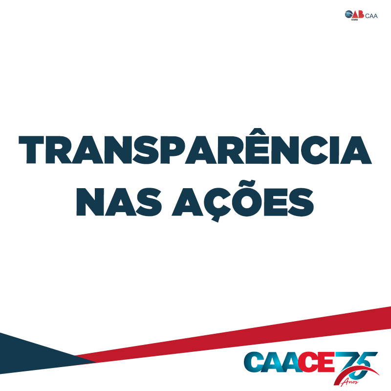 Nota – Transparência nas ações