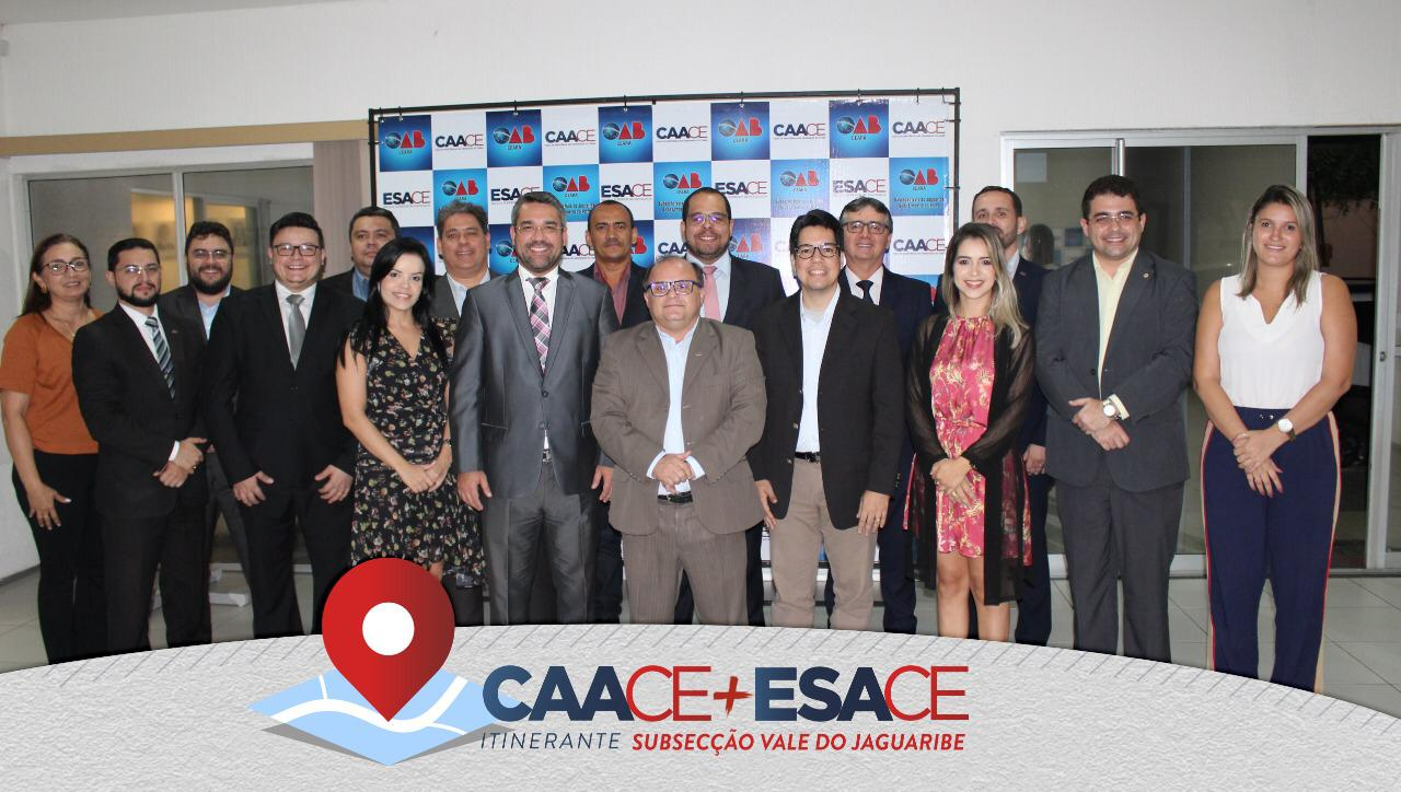 """ESACE e CAACE encerram a primeira etapa do Projeto """"CAACE e ESACE Itinerante"""" com balanço positivo das ações realizadas no interior do Estado."""