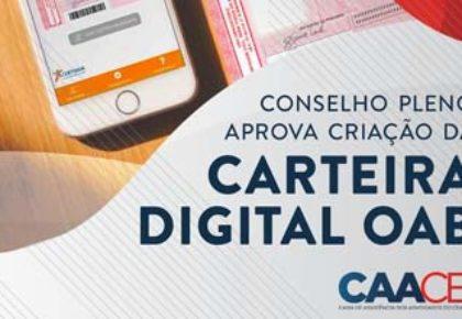 Conselho Pleno do CFOAB aprova a criação da Carteira Digital OAB