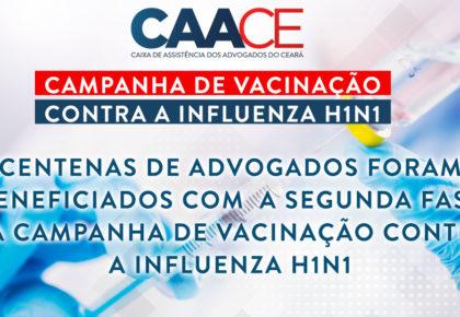 Centenas de advogados foram beneficiados com  a segunda fase da campanha de vacinação contra a Influenza H1N1