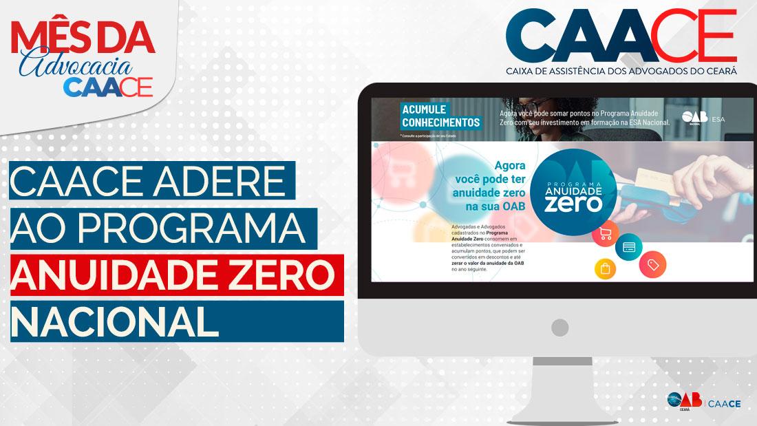 CAACE adere ao Programa Anuidade Zero Nacional