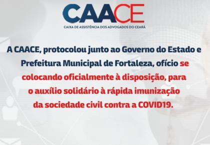 Ofícios CAACE para imunização da Sociedade civil.