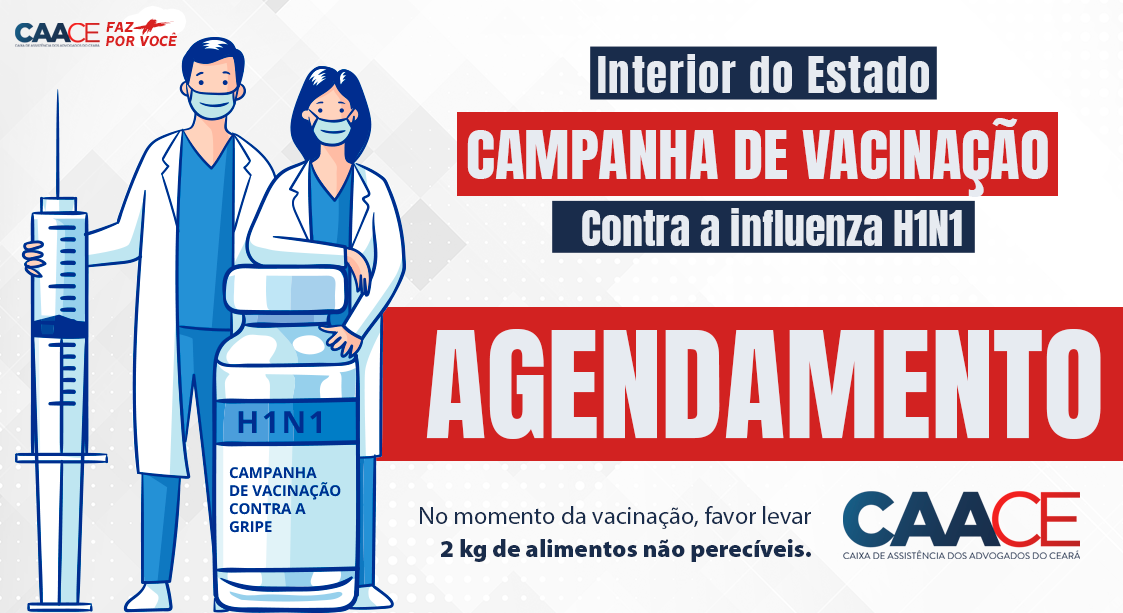 1ª Fase da Campanha de vacinação contra a Influenza H1N1 no Interior do Estado.