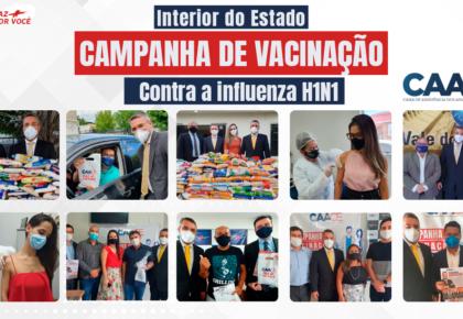 Campanha de Imunização contra a gripe H1N1 no interior do Estado.