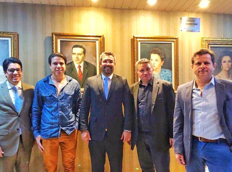 Presidente Sávio Aguiar visita o Jornal O Povo